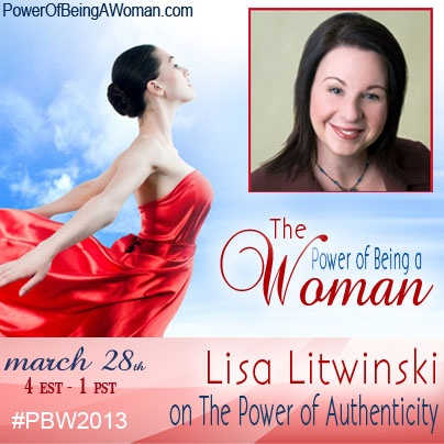 Next on The Power of Being a Woman teleseries,  Lisa Litwinski talks to us about The Power of Authenticity. Starts at 4pm EST on. Join us @ http://powerofbeingawoman.com.    Remember:  if you miss the live call you can always listen to the replay! But you need to be registered though.