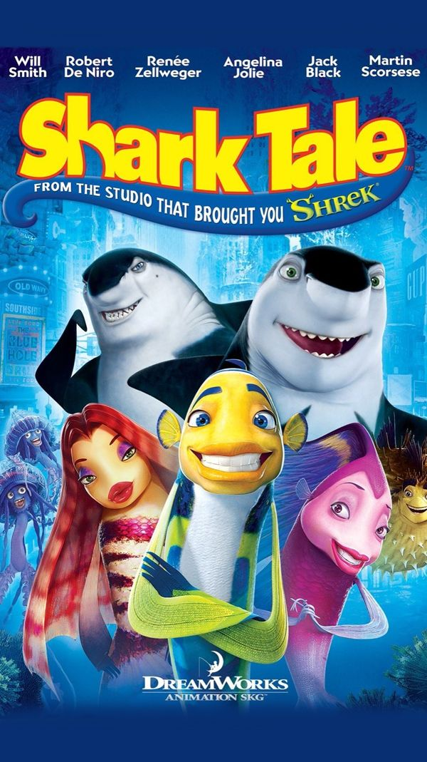 Shark Tale 2004 In 2020 Shark Tale Fantasy Book Covers Good Movies To Watch