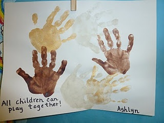 All Children Can Play Together Handprint Craft for MLK Day