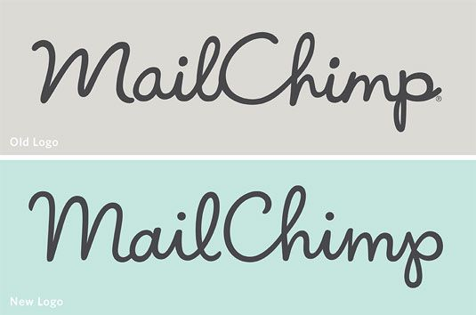 handwritten logo reflects its informal and friendly nature. Type guru Jessica Hische did the redesign lightening the weight of the logo and improving the letterforms is more refined and refreshed showing MailChimp's playful ethos.