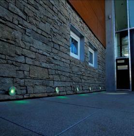 aranżacja wnętrz - Wykorzystano oprawę Oprawa ścienna do zabudowy zewnętrznej LED RGB Ø80 (D730154) – Deko Light  /oświetlenie LED/