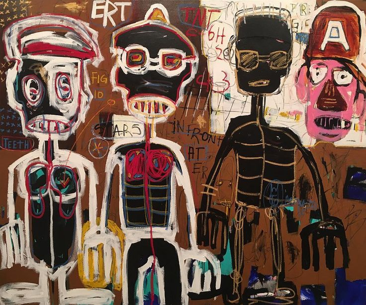 #Aboudia  Aboudia is noted for his large-scale, heavily layered, brutally energetic paintings that combine an innocence and spontaneity with the portrayal of a dark interior world. Since the Ivorian civil war in 2011, his urban landscapes have been haunted by trauma; armed soldiers, ominous skulls and a populace hemmed in by danger. This new series continues to grapple with the hardships of life on the streets and the social inequalities of downtown Abidjan. Often claustrophobic and…