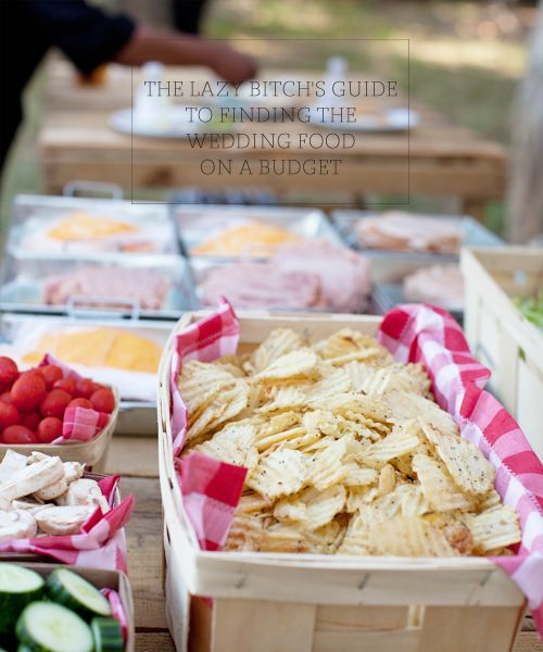 The Lazy Bitch's Guide to Finding the Wedding Food on a Budget