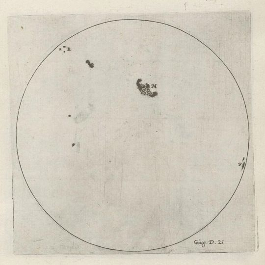 Galileo's tracking of sunspot activity in 1612 showed the rotation of the sun for the first time - GIF on Imgur