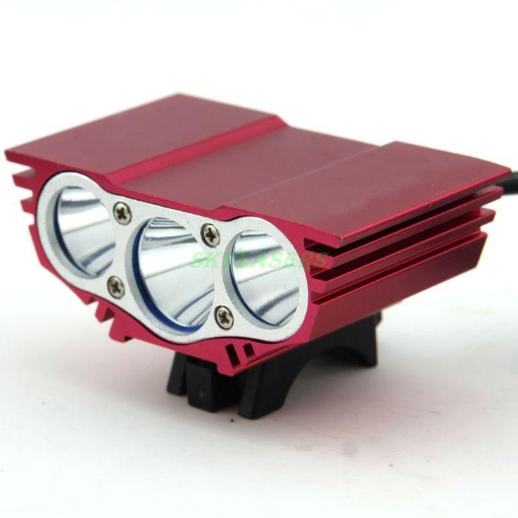 5000 Lumen Rood 3 X XML U2 LED Voor Fiets Licht Fietsen Fiets Lamp + Batterij & Charger