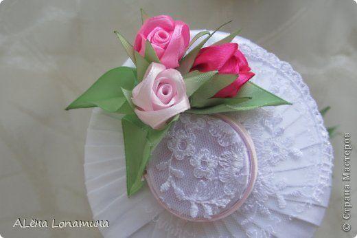 Декор предметов День рождения Свадьба Цумами Канзаши Первые свадебные бутылочки  Бусины Ленты фото 4