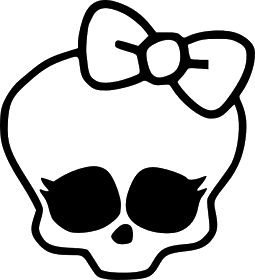 Leighs Paper Creation: Monster High Skull SVG SCUT2