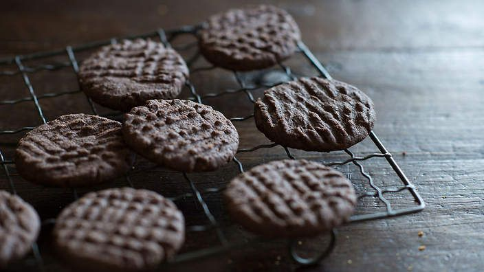 Anneka Manning's chocolate-and-hazelnut shortbread is simple and super quick to make. Check out our Bakeproof column for tips and recipes.