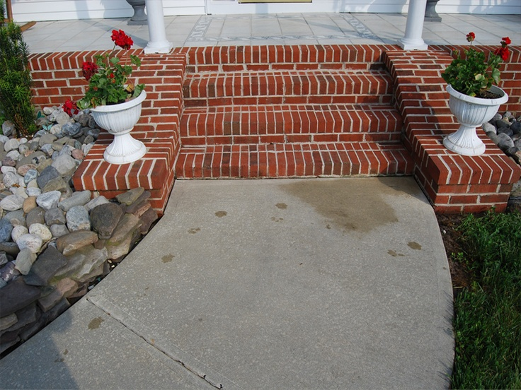 Front door steps brick ideas pinterest doors front for Front door steps ideas