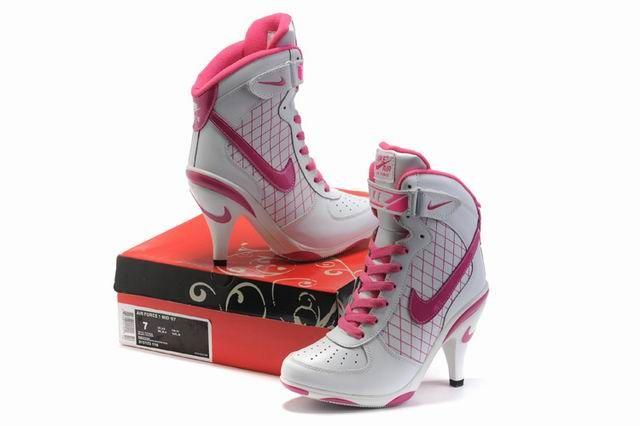 sports shoes 1e3f5 c9587 ... germany nike air jordan af high heels white pink cool pic2 0f77d d32fa