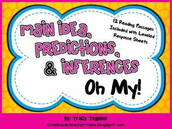 Main Idea, Predictions, and Inferences Oh My! (Fiction Reading)