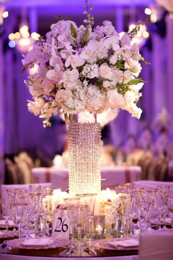 1014 Best Centerpieces Bring On The Bling Crystals Diamonds Images Pinterest Wedding Decorations And Centrepieces
