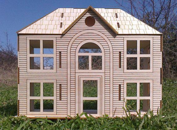 Spielzeug aus Holz viktorianisches Puppenhaus von nikolaosmalengos