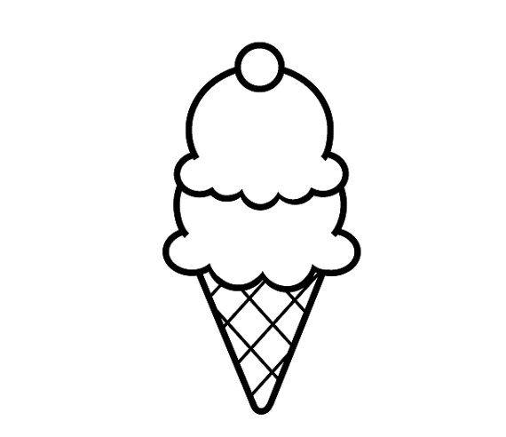 картинки мороженого простым карандашом