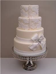 cake.and.white.lace.wedding.cake - Google Search