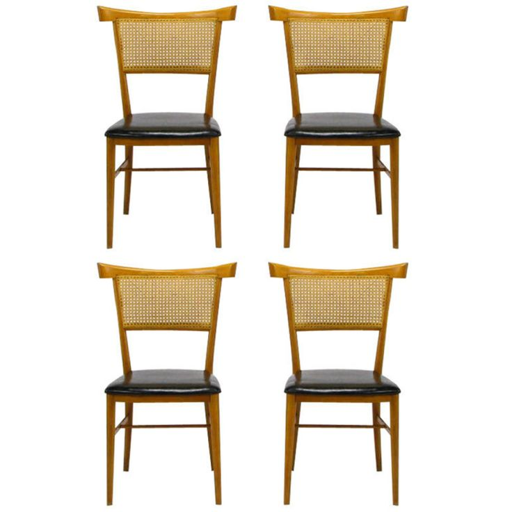 Four Paul McCobb Maple Perimeter Group Dining Chairs Modern Room