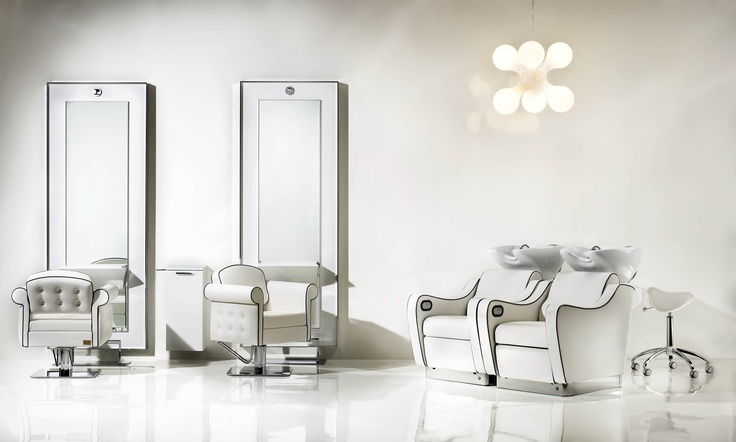 Pietranera Lounge with Londra Optima chair, Wen Optima Washunit, Dee stool, King styling unit and King cabinet  http://pietranera.com/html/vediambientazioni_all.html?lng=it_lang=1