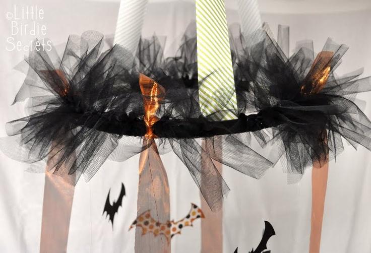 How To: Halloween Chandelier from Mandy from Little Birdie Secrets via eighteen25