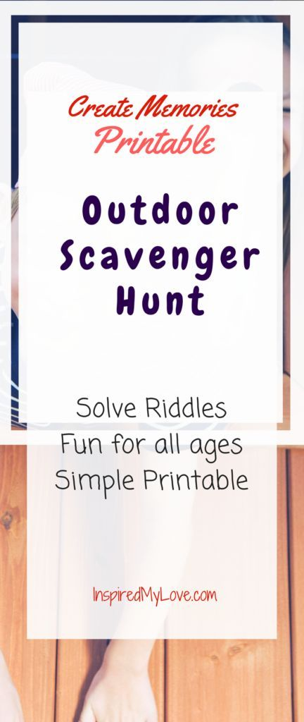 how to make a riddle scavenger hunt