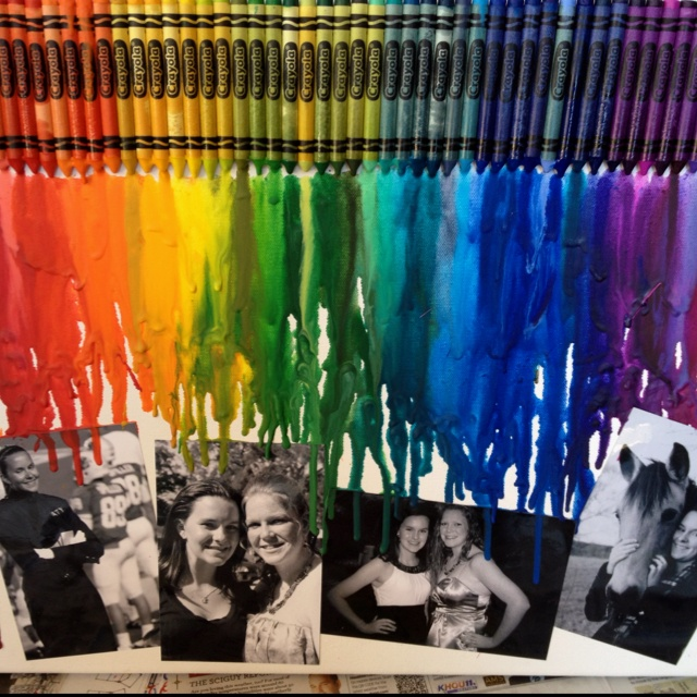 One of my own melted crayon art creations :): Art Creations, Melted Crayon Art, Melted Crayons, Crafty Creative