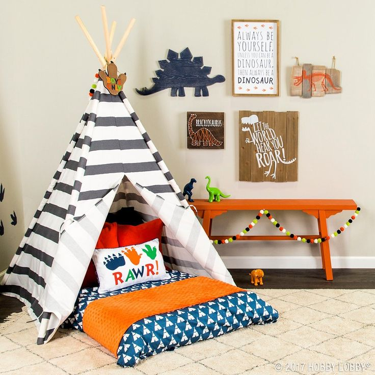 Mini Man Cave Zen : This colorful collection of dino decor is perfect for the