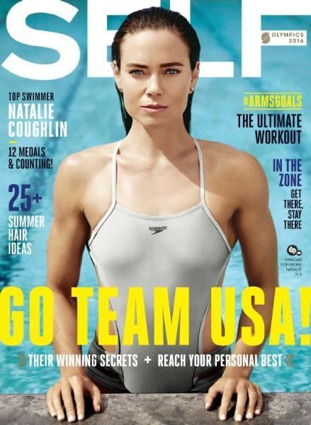 Self Magazine | July August 2016 Issue | Top Swimmer Natalie Coughlin | Sealed