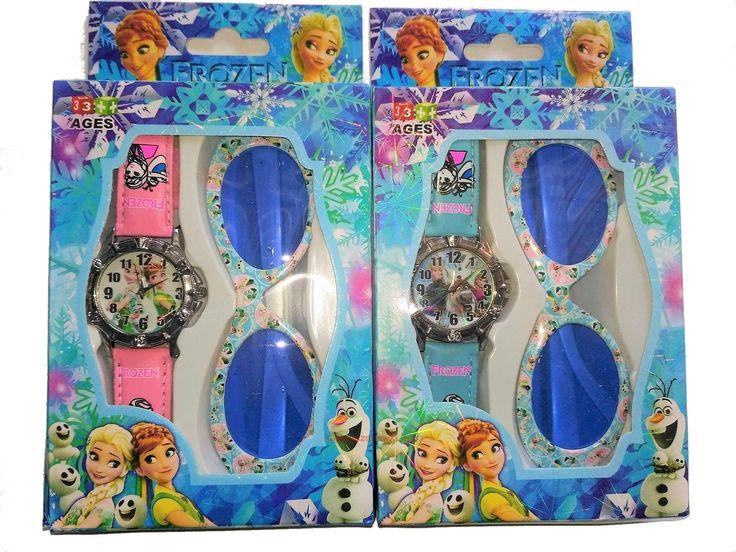 Okulary Frozen zegarek zestaw 2 w 1 Kraina Lodu | sklep kochamzabawki.eu