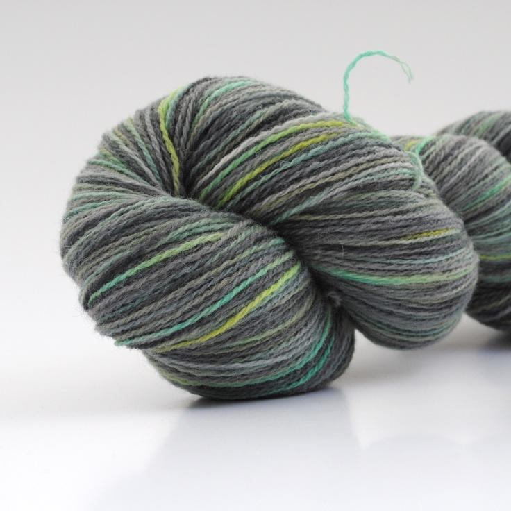 Mos på rullesten, 2-ply wool, 450m/100gr from Aalerusen.blogspot.com.    Handdyed yarns by Julia Zahle