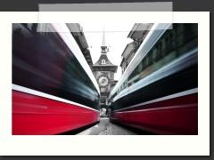 Bewegte Fotos mit dem Tram in der Berner Innenstadt: http://www.hebise.ch/Gallery/00023/index.html