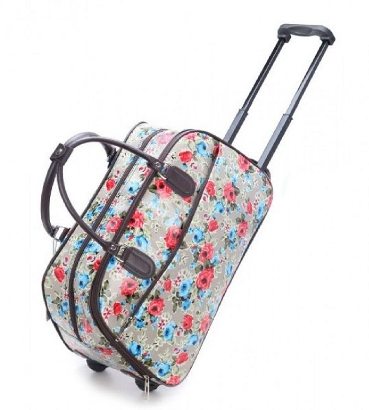 Green Flower Print Weekend Travel Luggage Bug - The Handbag Hut - £30 and free delivery