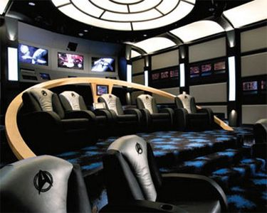 this star trek themed home theater is every trek geeks dream it is by far one of the more awesome trek themed rooms that ive seen - Best Home Theater Design