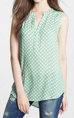 Dot print blouse in #mint http://rstyle.me/n/jqr79nyg6