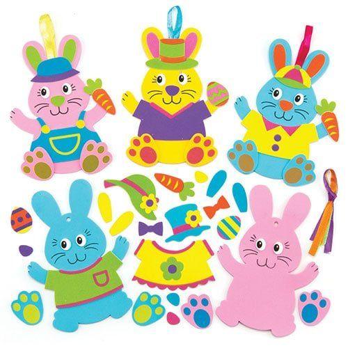 d943701540052b Kits de décorations lapin à assortir, fournitures pour les loisirs créatifs  et la confection de décorations et de cartes pour enfants (Lot de 6)   Les  ...