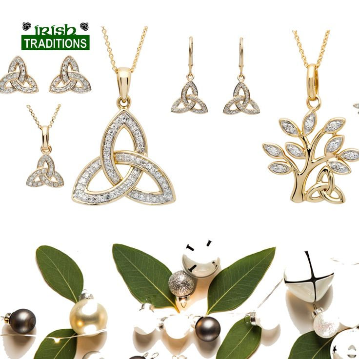 Visit our online shop to see all of our Fine Celtic Jewelry Available. For this holiday season, we're happy to add these stunning Diamond Set 14K Yellow Gold Jewelry Sets to our shop. Shop Our Golden Jewelry Collection today.