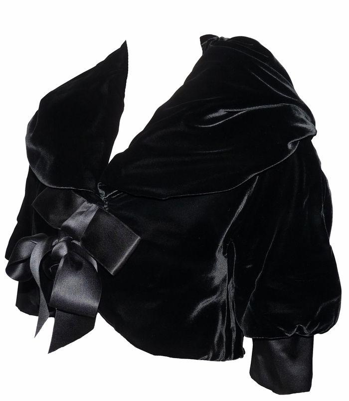 depot vente de luxe en ligne dolce & gabbana veste bolero en velours noir | TendanceShopping.com