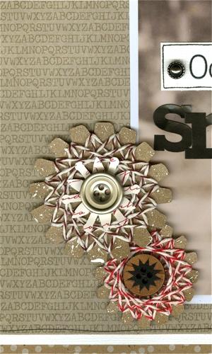 String art snowflakes using baker's twine - Julie Bonner blog