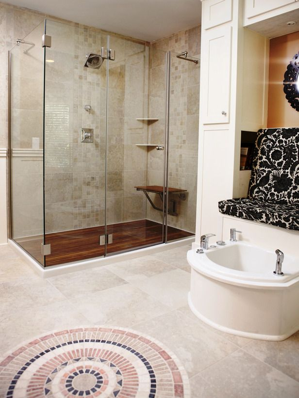 Amazing Tubs and Showers Seen On Bath Crashers : Home Improvement : DIY Network- Good Bye Little Transport Foot Tub!