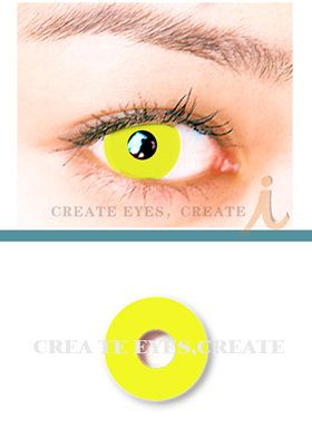 Vamp up the night with these vibrant lenses ♥    Golden Yellow Crazy Cosmetic Contact Lenses  HeavenlyCreates: Offers a wide variety of Crazy Contact Lenses at even crazier prices.   Brand New and Packaged  Packing: 2 pcs / Box   Prescription: 0.00  Usage: 90+ days after opening   Price: $69.00