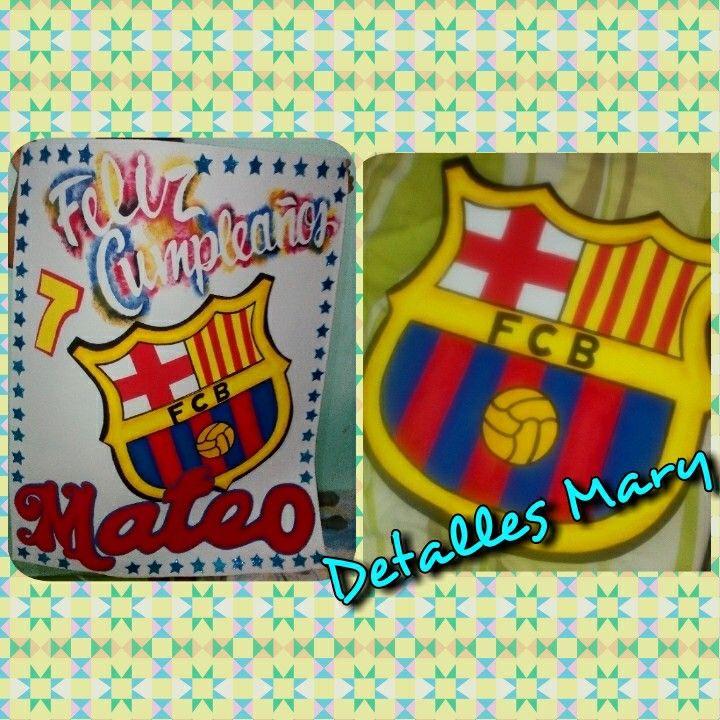 Cartel en foami, y Escudo de barcelona