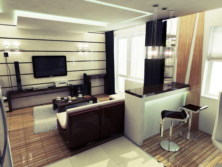 Wohnküche mit Bartresen: originelle Ideen für den Innenraum