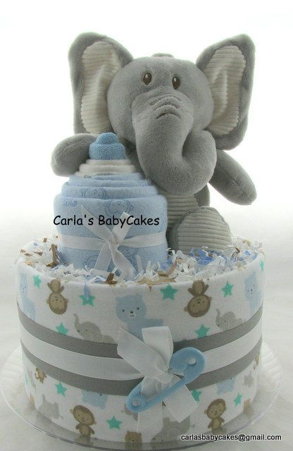 how to make diaper cake for boy baby shower