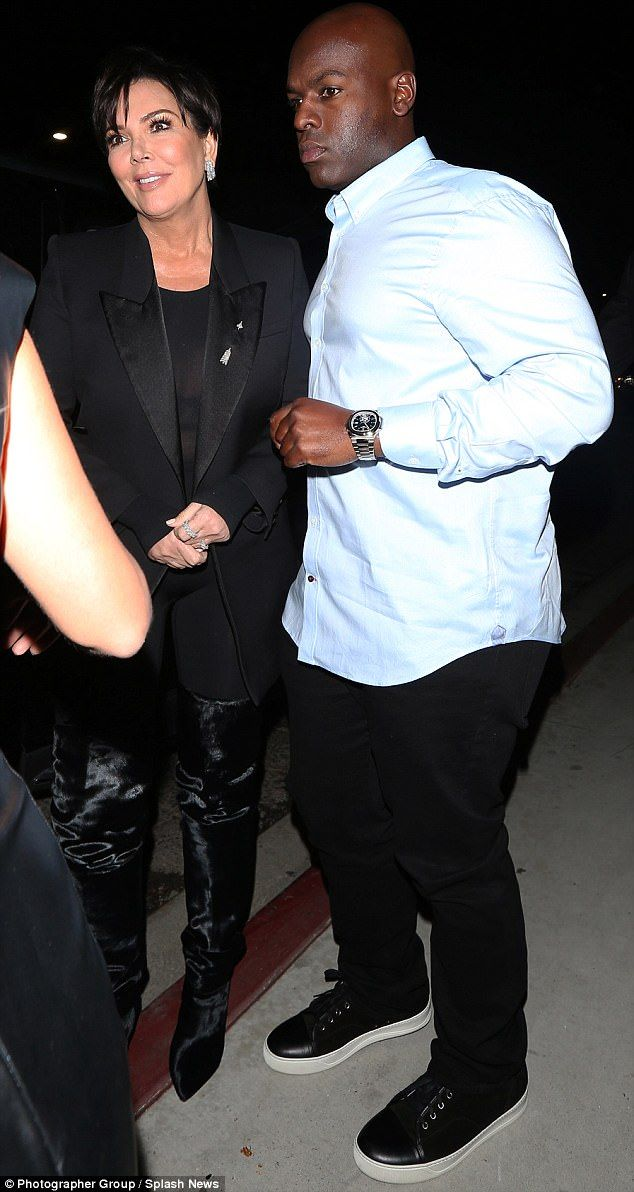 United couple:Kris Jenner proved she is still very much dating boyfriend Corey Gamble, as the couple attended a Tommy Hilfiger event at Poppy club in West Hollywood on Thursday