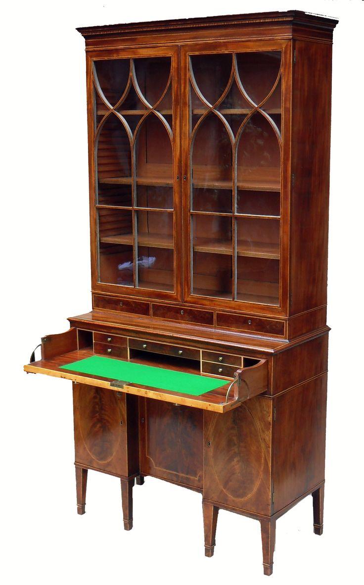 Thomas sheraton chair - Thomas Sheraton Secretaire Bookcase