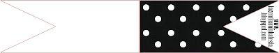 Imprimibles de fondo negro con lunares blancos 2.