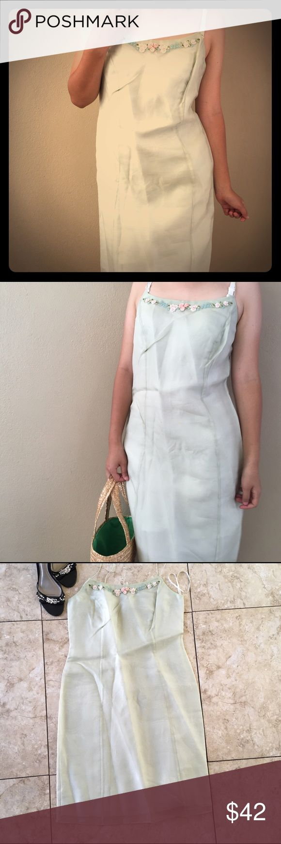 100% Silk Ann Taylor Spaghetti Strap Summer Dress NWOT - never worn before, brand new no tags! Thin & lightweight, the perfect dress for picnic, shopping, or a girls night out. Beautiful flowers lined on top. 100% silk, high quality. Midi knee length dress. Fits like small to medium :) 4 petite Ann Taylor Dresses Midi