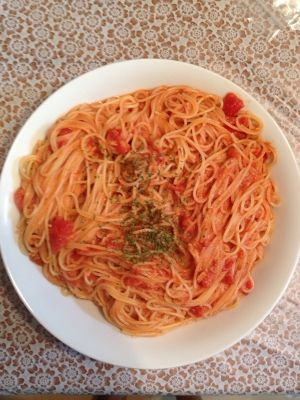 缶 パスタ トマト ツナ