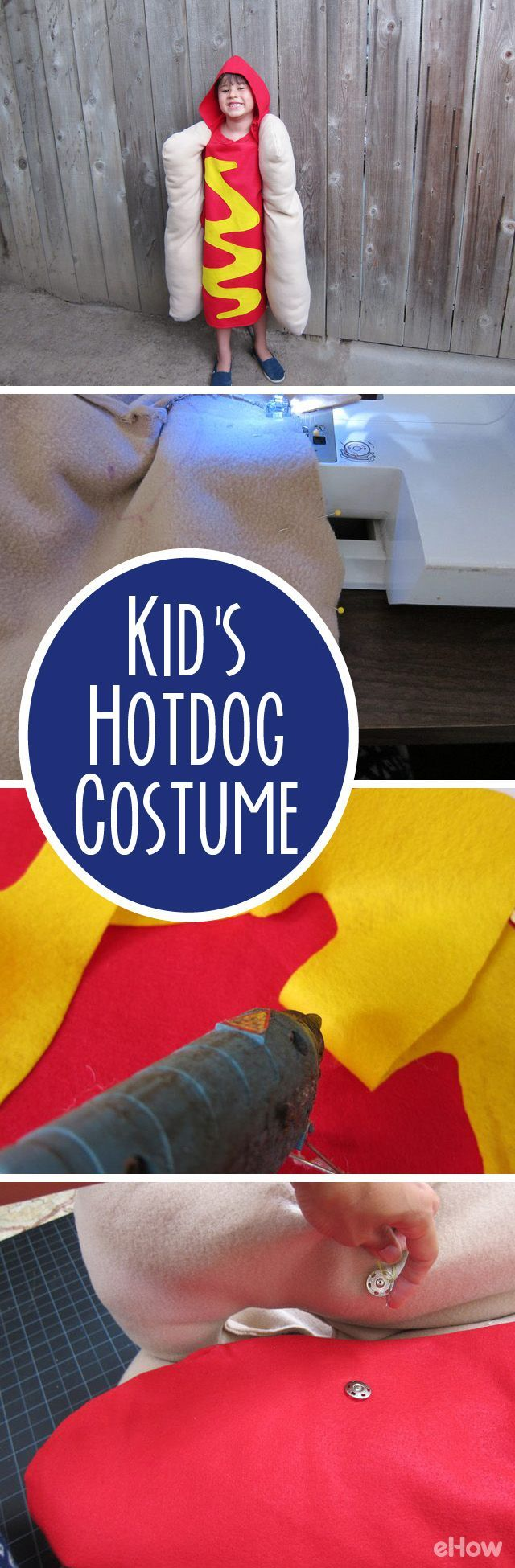How cute is this hot dog costume for kids! Imagining the whole family dressed up as the hot dog and condiments just makes us laugh out loud. It's super easy to make youself. Grab the instructions here: http://www.ehow.com/how_2100273_make-hot-dog-costume.html?utm_source=pinterest.com&utm_medium=referral&utm_content=freestyle&utm_campaign=fanpage