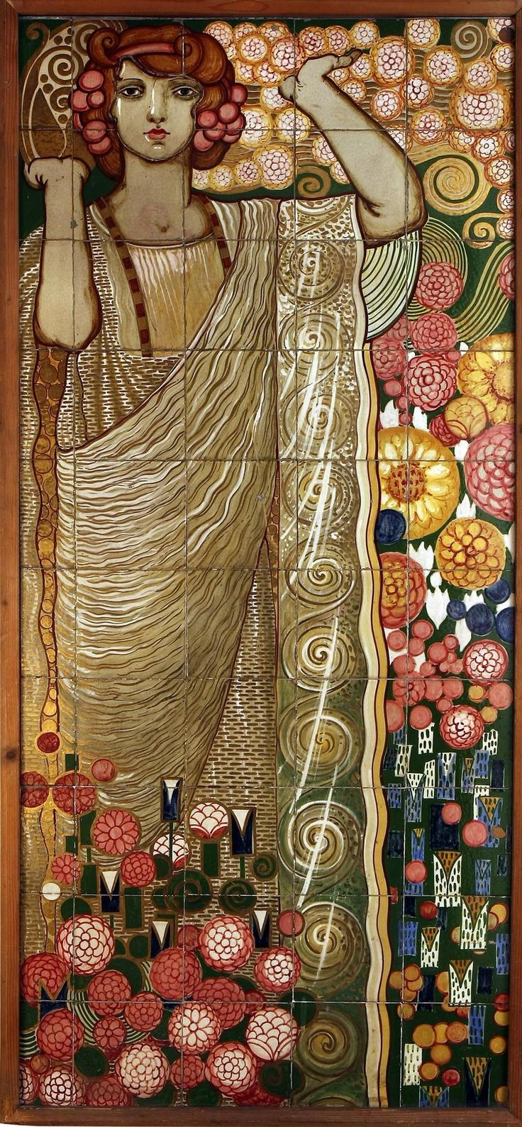 Galileo Chini, ceramic tile mural 1920. Not a true mosaic, but what an incredible tile artist!