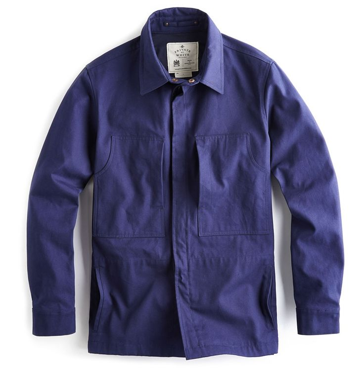 Mechanic Shirt Navy Private White Vc 100 Cotton Woven