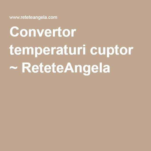 Convertor temperaturi cuptor ~ ReteteAngela
